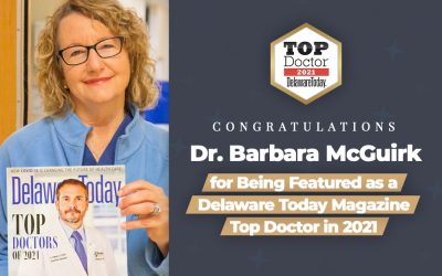 Dr. Barbara McGuirk Featured in Delaware Today Magazine as Top Doctor in 2021